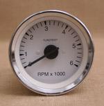 Varvräknare 85 mm 6000 rpm vit