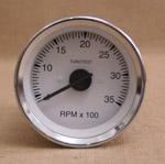 Varvräknare 85 mm 3500 rpm vit