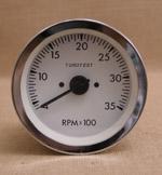 Varvräknare 100 mm 3500 rpm vit