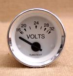Voltmätare 16-32 volt 52mm vit
