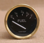 Bränslemätare 52 mm svart, mässing
