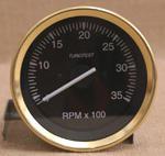 Varvräknare 85 mm 3500 rpm vit, mässing